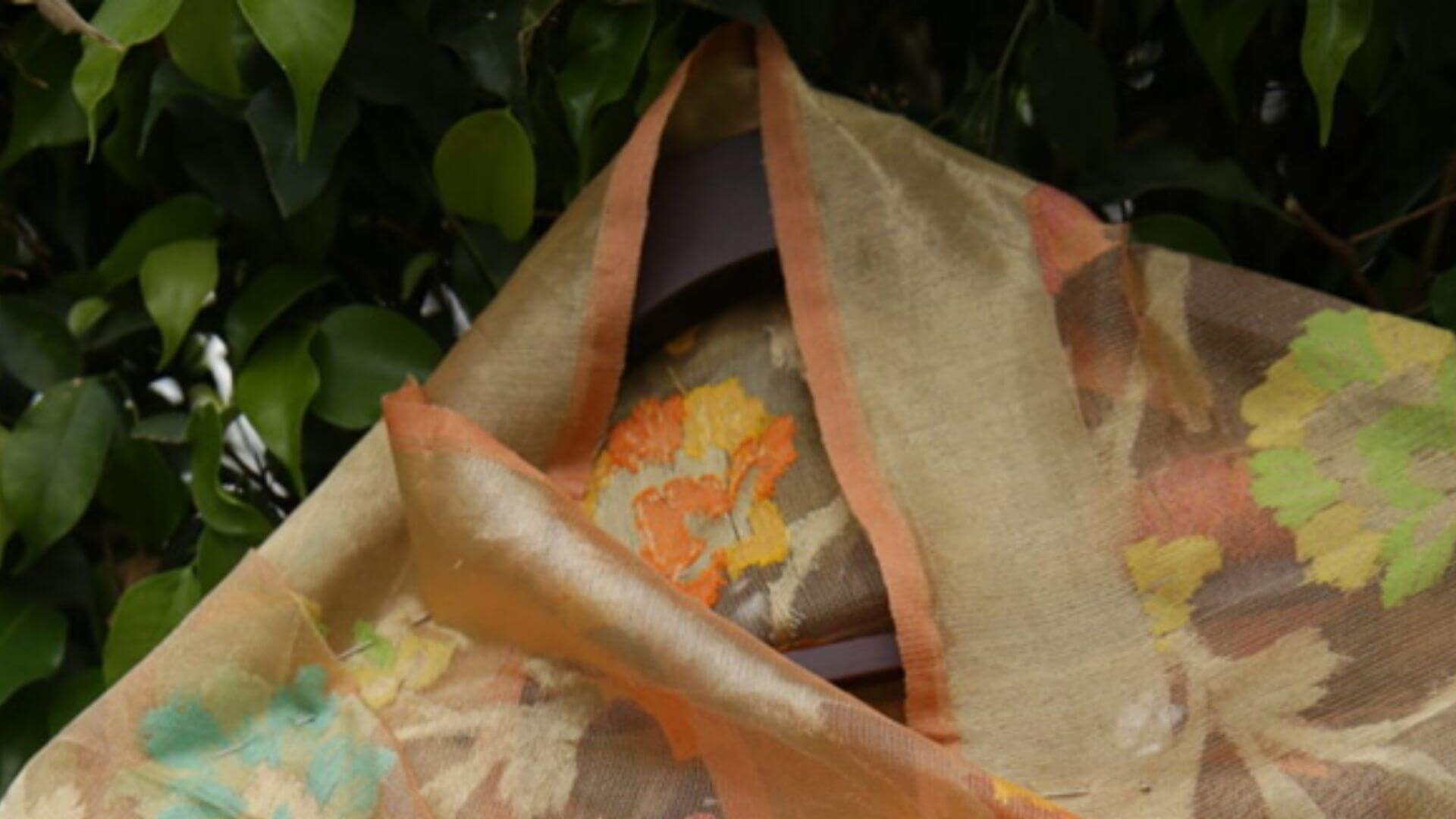 orange padmashali sarees